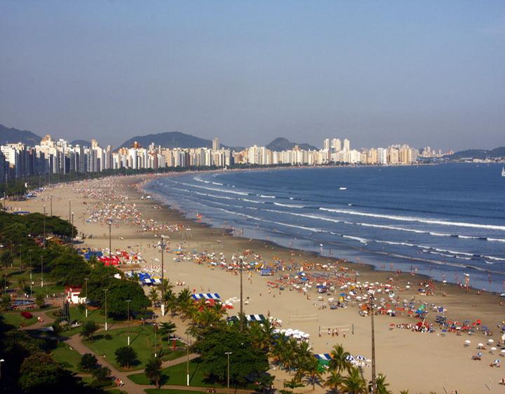Santos beach, SP