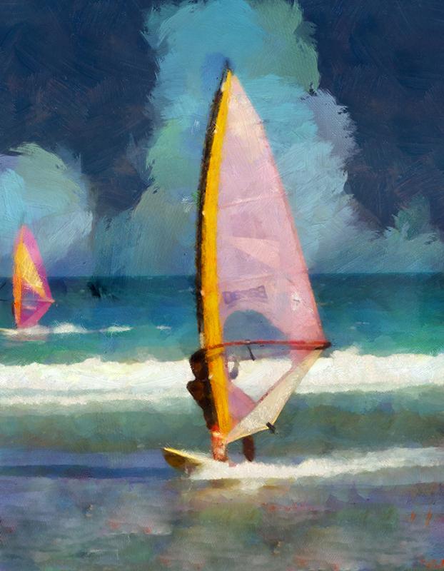 Windsurfers in Buzios
