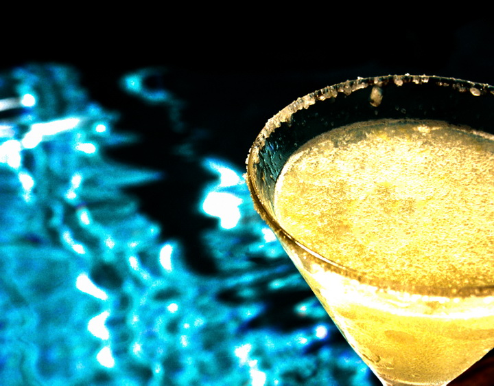Marguerita at pool